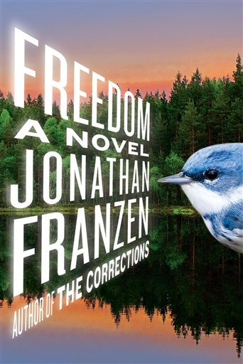 """In this book cover image released by Farrar, Straus and Giroux, """"Freedom,"""" by Jonathan Franzen is shown."""