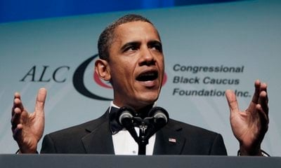President Barack Obama speaks at the Congressional Black Caucus Foundation Inc.'s Annual Legislative Conference Phoenix Awards Dinner at the Washington Convention Center, Saturday, Sept. 18, 2010, in Washington.