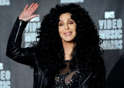 FILE - In this Sept. 12, 2010 file photo, Cher poses in the press room at the MTV Video Music Awards in Los Angeles.