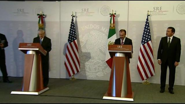 Kelly, Tillerson and their Mexican counterparts spoke before the two Americans planned to meet with Mexican President Enrique Pena Nieto.