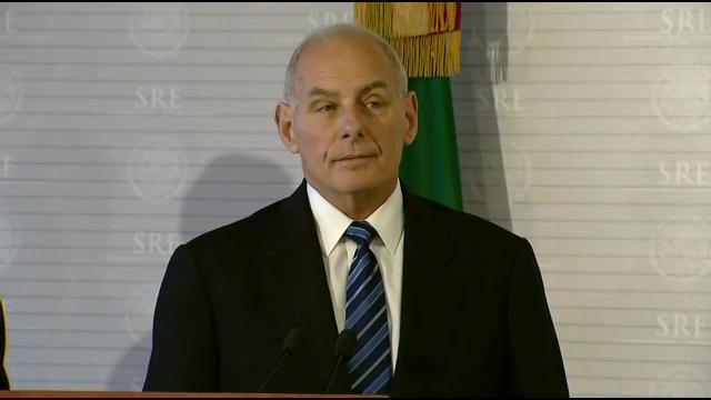 U.S. Homeland Security Secretary John Kelly.