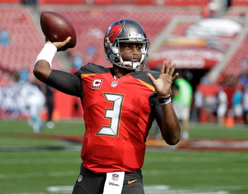 Tampa Bay Buccaneers quarterback Jameis Winston (3) before an NFL football game against the Carolina Panthers Sunday, Jan. 1, 2017, in Tampa, Fla.