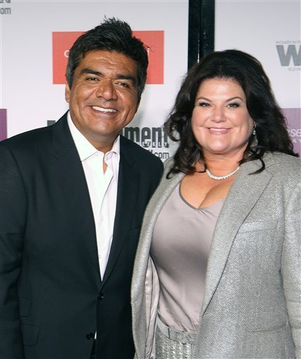 FILE - In this Sept. 17, 2009 file photo, George Lopez and his wife Ann Serrano attends the Entertainment Weekly and Women In Film Pre-Emmy Party in Los Angeles. (AP Photo/Shea Walsh, file)