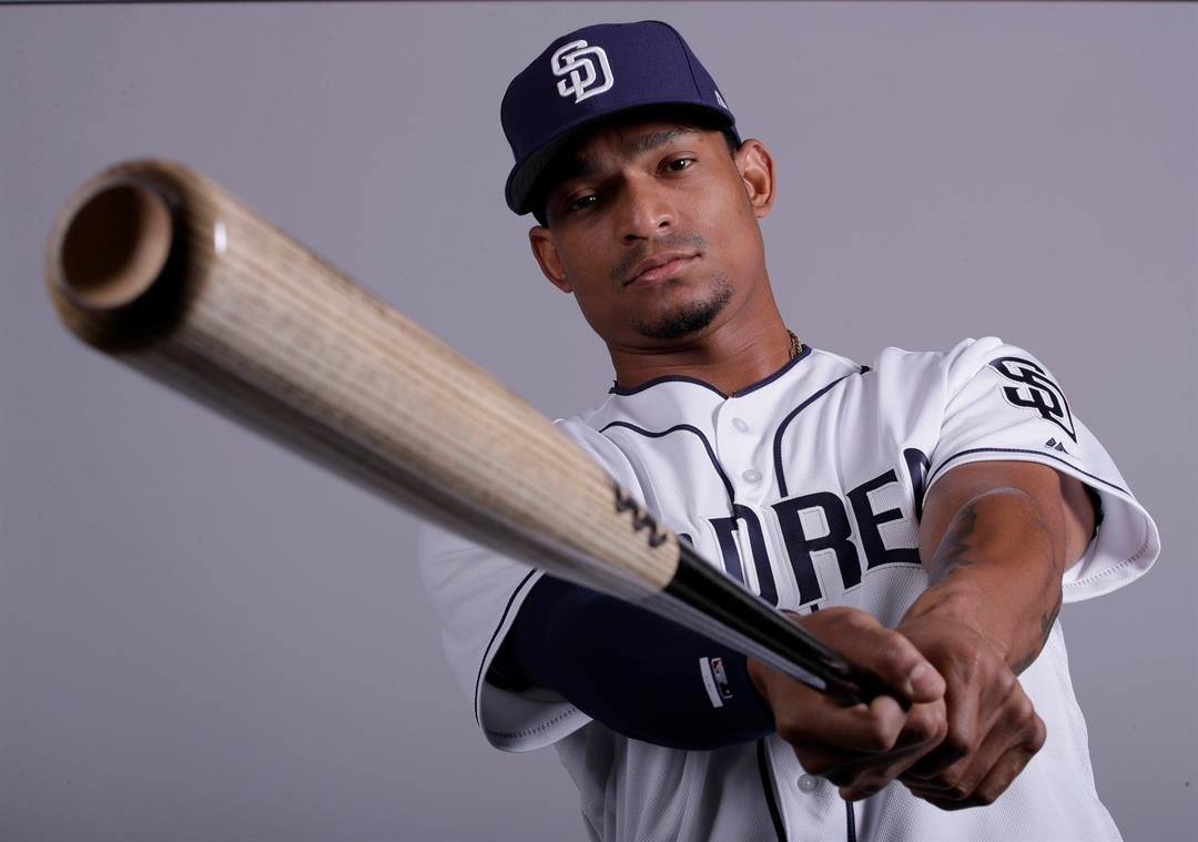 This is a 2017 photo of Christian Bethancourt of the San Diego Padres baseball team. This image reflects the San Diego Padres active roster as of Sunday, Feb. 19, 2017, when this image was taken. (AP Photo/Charlie Riedel)
