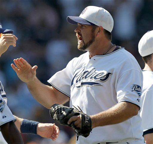 San Diego Padres closer Heath Bell