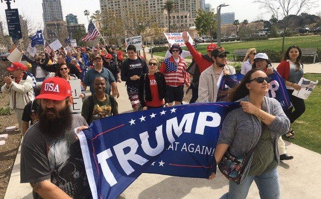 President Donald Trump Supporters Rally in San Diego