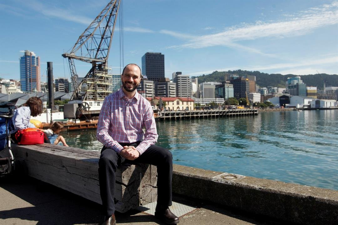 Tech developer Nick Piesco poses for a photo in Wellington, New Zealand Friday, March 10, 2017. Local authorities and businesses are offering free trips to New Zealand for 100 tech workers from around the globe as they seek to boost the city's growing tec