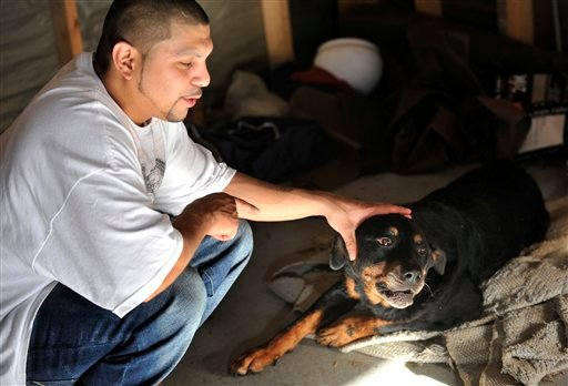 Olivarez had euthanized Mia, who suffers from a spinal problem, on Saturday evening, only to find on Sunday morning that she was alive and had moved from the spot where he had laid her in the garage.