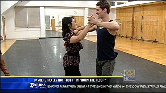 "News 8's Marcella Lee got a few pointers from ""Burn the Floor"" dancer Tristan MacManus."