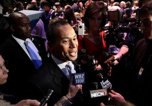 Candidate for Governor of Massachusetts Democratic incumbent Deval Patrick. (AP Photo/Steven Senne)