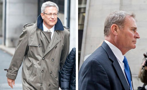 Former Penn State Athletic Director Tim Curley (left) and former Penn State senior vice president Gary Schultz (right).