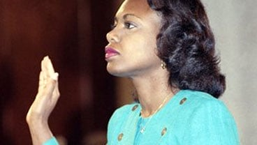 University of Oklahoma law professor Anita Hill is sworn in, in the Caucus Room before testifying before the Senate Judiciary Committee on Capitol Hill in Washington, in this Oct. 11, 1991 file photo. (AP Photo/Greg Gibson, File)