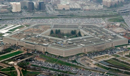 The Pentagon is seen in this aerial view in Washington, in this March 27, 2008 file photo. The WikiLeaks website appears close to releasing what the Pentagon fears is the largest cache of secret U.S. documents in history.(AP Photo/Charles Dharapak, File)