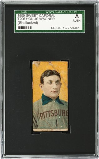 This undated photo provided by Heritage Auctions shows a rare century-old T206 Honus Wagner baseball card. A Baltimore convent is getting some help for its charitable mission from an unexpected source: this rare, century-old baseball card.