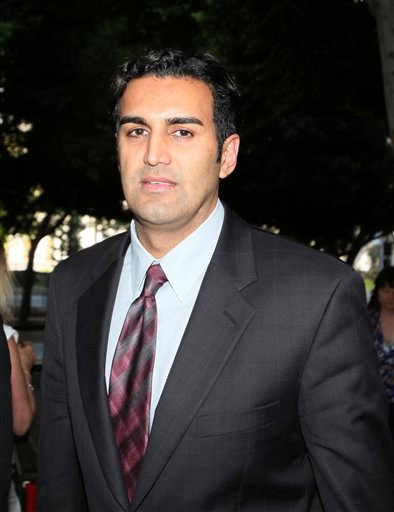 FILE - This Aug. 4, 2010 file photo shows Dr Sandeep Kapoor leaving court in Los Angeles, at the conspiracy trial of Howard K. Stern, Kapoor and Dr. Khristine Eroshevich.