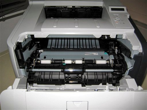 This undated photo released by the Dubai Police via the state Emirates News Agency (WAM) on Saturday, Oct. 30, 2010, claims to show a computer printer with explosives loaded into its toner cartridge. (AP)