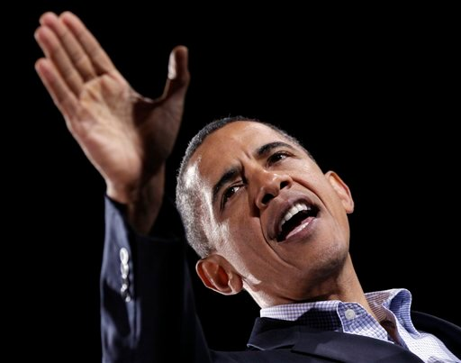 In the closing days before the crucial midterm election, President Barack Obama makes a final get-out-the-vote push for Democratic candidates as they battle to keep their majorities in Congress. (AP Photo/J. Scott Applewhite)