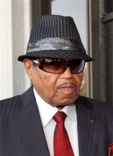 FILE - In this June 14, 2010 file photo Joe Jackson, the father of the late pop star Michael Jackson, arrives to a Los Angeles courthouse for a preliminary hearing setting and motions in the trial of Jackson's personal doctor Conrad Murray.