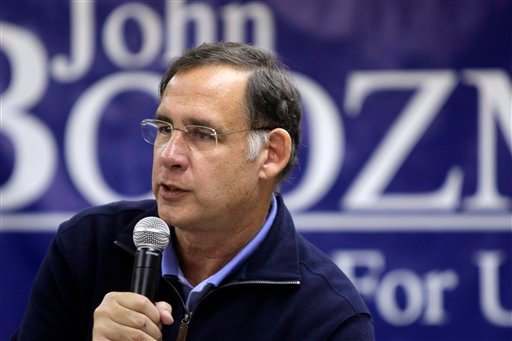 U.S. Rep. John Boozman, Republican candidate for U.S. Senate, speaks to supporters at a campaign stop in Newport, Ark., Wednesday, Oct. 27, 2010.
