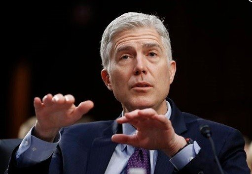 Supreme Court Justice nominee Neil Gorsuch listens on Capitol Hill in Washington, Wednesday, March 22, 2017.