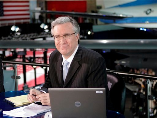 FILE - In this May 3, 2007 file photo, Keith Olbermann of MSNBC poses at the Ronald Reagan Library in Simi Valley, Calif., (AP Photo/Mark J. Terrill, file)
