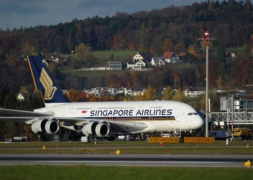 Tests uncovered oil stains in three Rolls-Royce engines on Singapore Airlines' A380 superjumbos, prompting the airline to yank the planes from service.