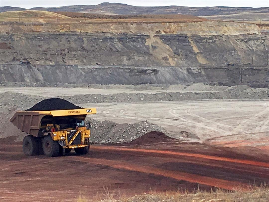 A dump truck hauls coal Tuesday, March 28, 2017, at Contura Energy's Eagle Butte Mine near Gillette, Wyo. President Donald Trump's lifting of a federal coal lease moratorium will allow new coal leasing to resume at the mine and others in the Powder River