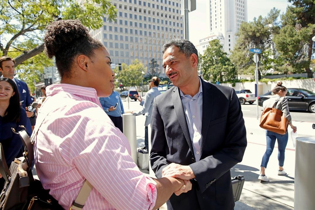 Mahmood is promising to run on his Muslim faith, immigrant past and career as a health care provider. (AP Photo/Nick Ut)