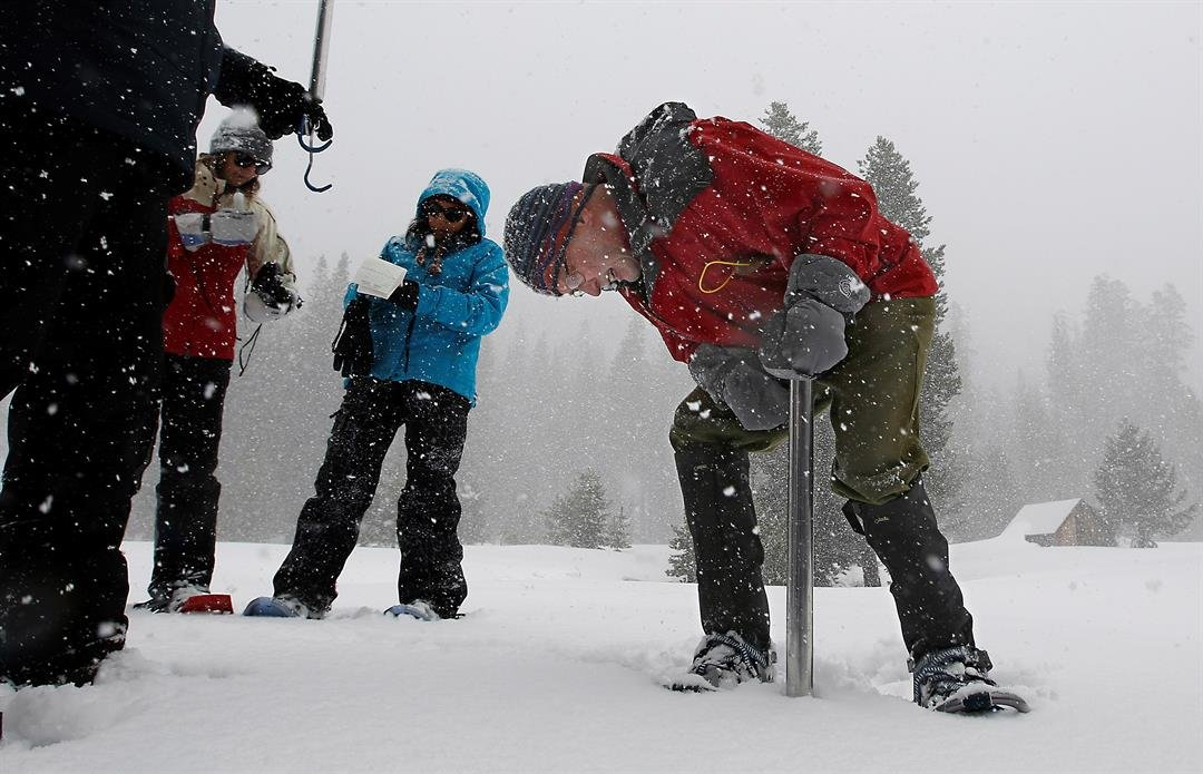 Overall, the state's electronic snow monitors show the Sierra Nevada snowpack at 164 percent of normal. (AP Photo/Rich Pedroncelli)