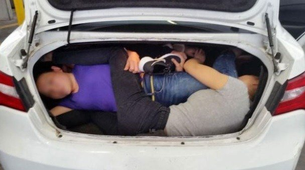 The car was stopped at the San Ysidro Port of Entry in San Diego, Calif., on March 14, 2017. (Credit: U.S. Customs and Border Protection)