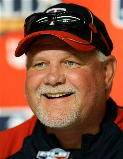 This Oct. 8, 2010, file photo shows Minnesota Twins manager Ron Gardenhire during a news conference, at Yankee Stadium in New York. Gardenhire won the AL Manager of the Year award Wednesday, Nov. 17, 2010.