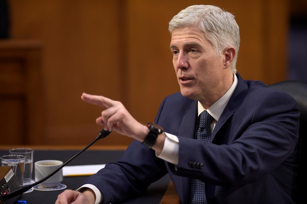 In this March 22, 2017 file photo, Supreme Court Justice nominee Neil Gorsuch testifies on Capitol Hill in Washington before the Senate Judiciary Committee. (AP Photo/Susan Walsh, File)