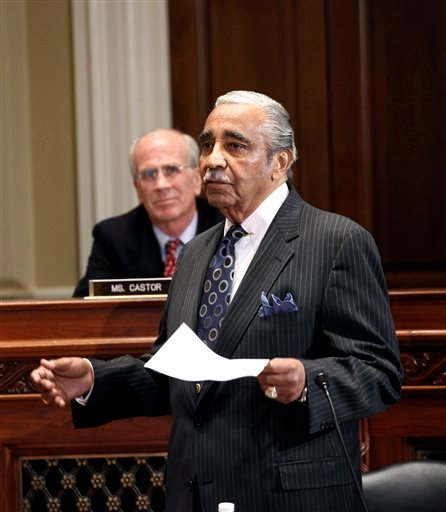 Rep. Charles Rangel, D-N.Y. appears before the House Ethics Committee, on Capitol Hill in Washington, Thursday, Nov. 18, 2010.