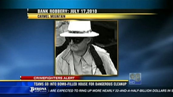 Jakubec is also suspected in a series of bank robberies, including this robbery of a Bank of America on July 17 in Carmel Valley.