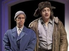 In this undated theater publicity image released by Aurora Productions, Denis O'Hare, left, and Brendan Fraser are shown in a scene from the Broadway production of 'Elling' in New York.
