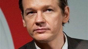 This Aug. 14, 2010 file photo shows WikiLeaks founder Julian Assange in Stockholm, Sweden.  (AP Photo/Scanpix/Bertil Ericson, File)