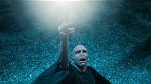"""In this film publcity image released by Warner Bros. Pictures, Ralph Fiennes is shown in a scene from """"Harry Potter and the Deathly Hallows: Part 1."""" (AP Photo/Warner Bros. Pictures)"""