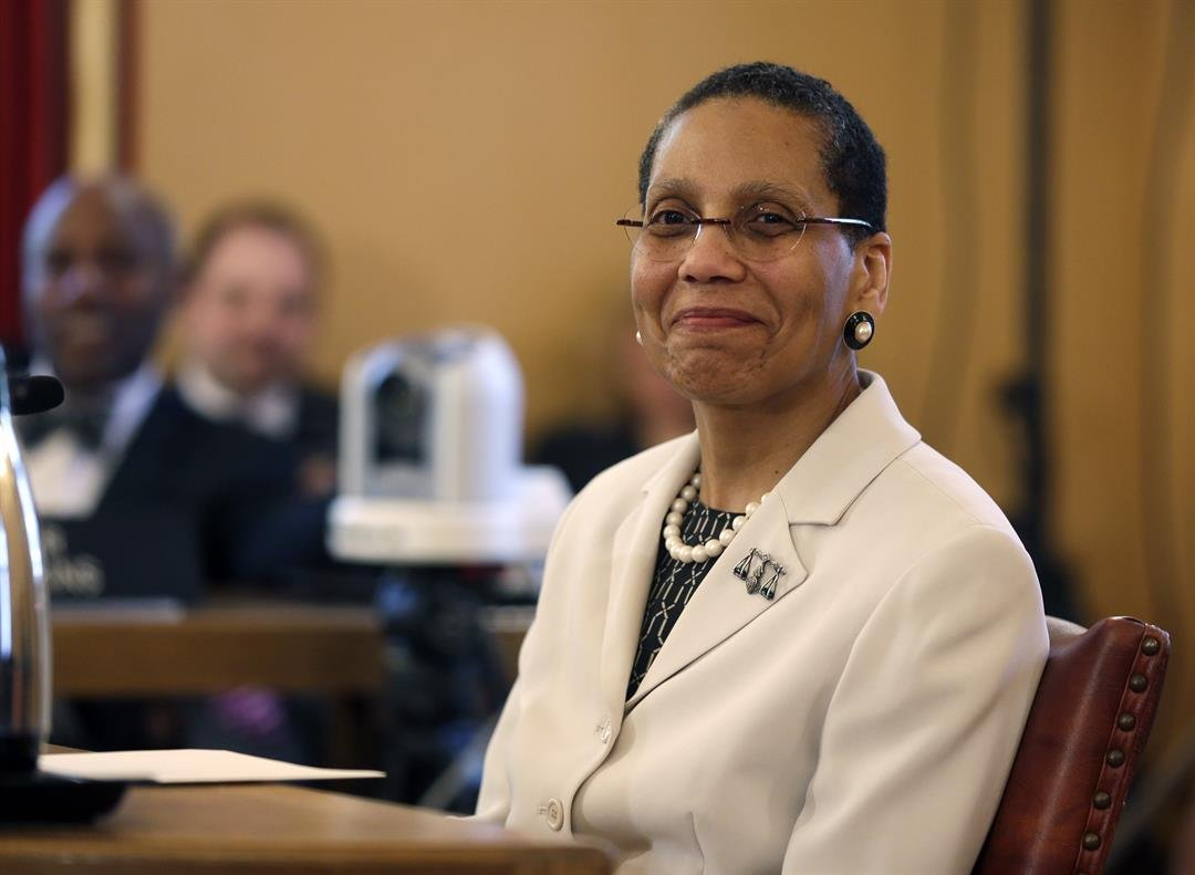 ustice Sheila Abdus-Salaam looks on as members of the state Senate Judiciary Committee vote unanimously to advance her nomination to fill a vacancy on the Court of Appeals at the Capitol on Tuesday, April 30, 2013, in Albany, N.Y.