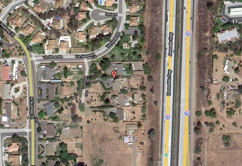 Google aerial view of 1954 Via Scott