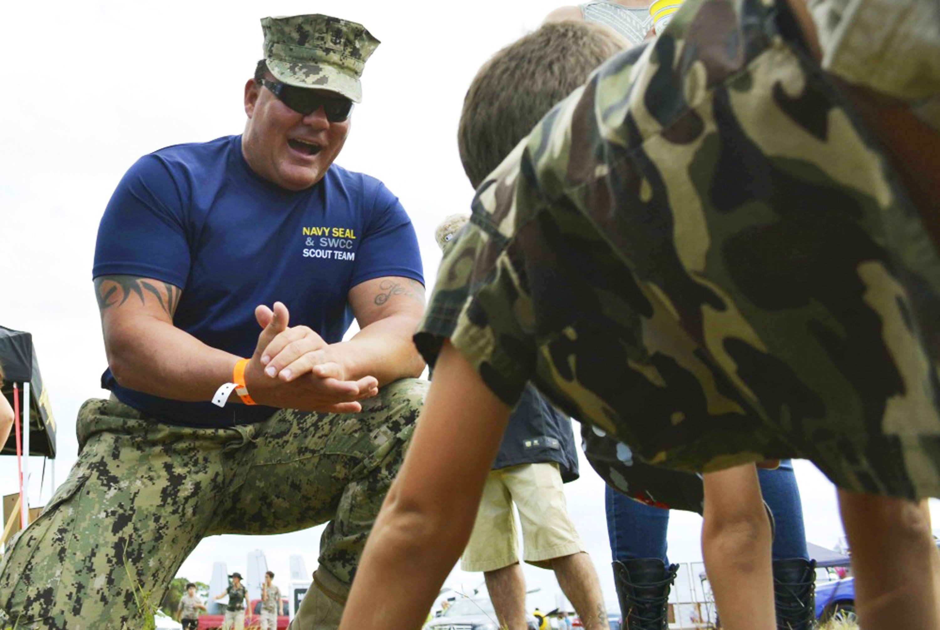 This Nov. 6. 2016 photo provided by the U.S. Navy shows Chief Petty Officer Joseph Schmidt III. (Petty Officer 2nd Class Pyoung K. Yi/U.S. Navy via AP)