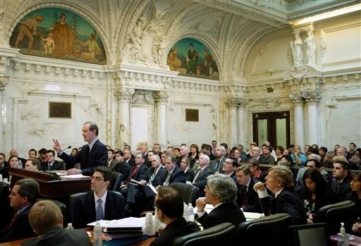 Co-lead counsel of the legal team challenging California's same-sex marriage ban, David Boies, standing, argues during a hearing in the Ninth Circuit Court of Appeals, Monday, Dec. 6, 2010, in San Francisco. (AP Photo/Eric Risberg, Pool)