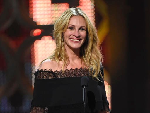 In this June 4, 2016, file photo, Julia Roberts accepts the woman of the decade award at the Guys Choice Awards in Culver City, Calif.