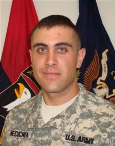 In this undated photo provided by the U.S. Army, Spc. Kenneth E. Necochea Jr. is shown.
