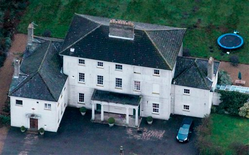 Ellingham Hall in Bungay, England, the home of journalist and Frontline Club founding member Vaughan Smith, is seen from the air, Dec. 15, 2010. WikiLeaks founder Julian Assange will reportedly stay at the house. (AP Photo/Matt Dunham)