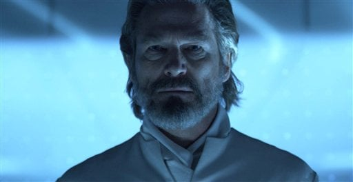 """In this publicity image released by Disney, Jeff Bridges is shown in a scene from """"Tron: Legacy."""" (AP Photo/Disney)"""