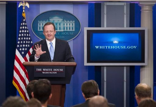 White House press secretary Robert Gibbs gestures during the daily briefing at the White House on Monday, Dec. 20, 2010 in Washington. (AP Photo/Evan Vucci)