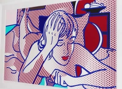 This undated photo provided by the New York City Police Department shows Roy Lichtenstein's 'Thinking Nude.'