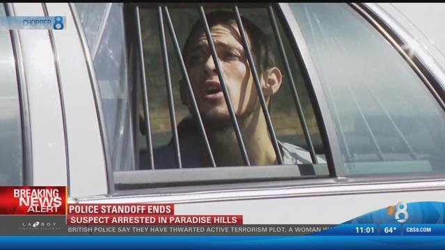 Man surrenders after police standoff in Paradise Hills