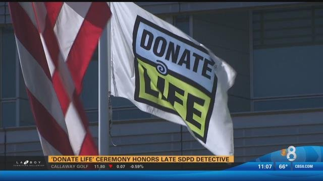 'Donate Life' ceremony honors late SDPD detective