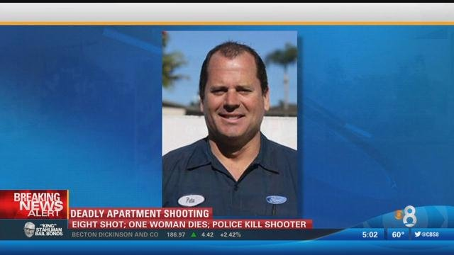 The shooter has been identified by police as Peter Selis born in 1967. He reportedly lived at the apartment complex where the shooting took place.